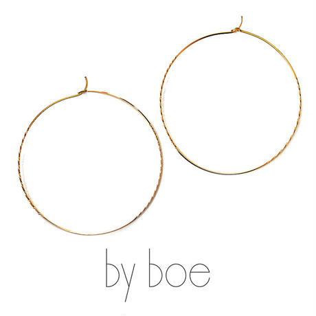 by boe バイボー【E540 large】Double Twisted Hoops Large ラージダブルツイステッドフープスピアス