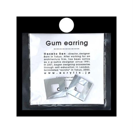 acrylic【スクエア小 ミラー】GUM EARRING parts アクリリック 坂雅子