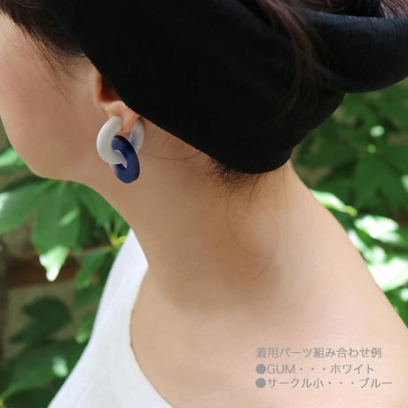 acrylic【サークル小 グレー 】GUM EARRING parts アクリリック 坂雅子