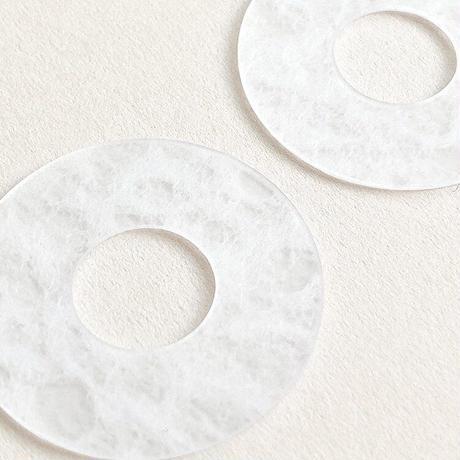 acrylic【サークル小 ホワイト 和紙】GUM EARRING parts アクリリック 坂雅子