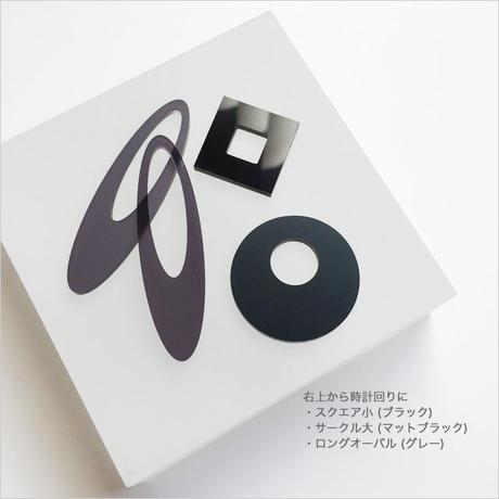 acrylic【サークル大 グレー】GUM EARRING parts アクリリック 坂雅子