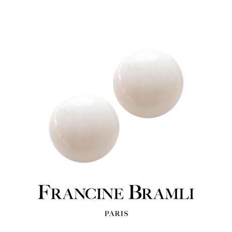FRANCINE BRAMLI PARIS【レインボールイヤリング XL ホワイト】白色  フランシーヌブラムリパリ