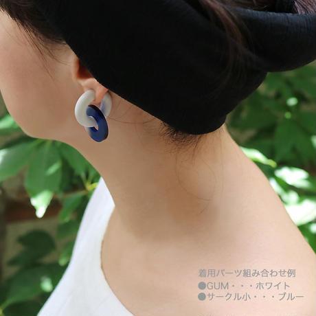 acrylic【サークル小 ネオンピンク 】GUM EARRING parts アクリリック 坂雅子