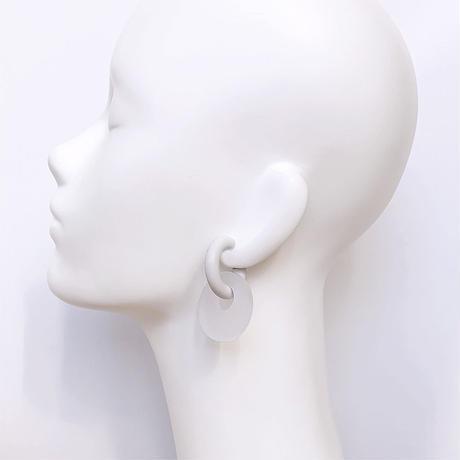 acrylic【サークル大 フロストホワイト】GUM EARRING parts  アクリリック 坂雅子