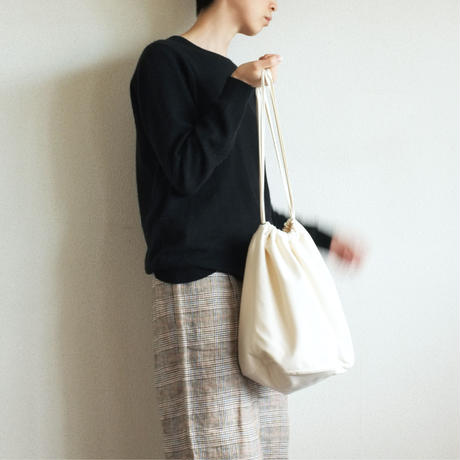 "〈TRAM〉Drawstring Bag ""EFFECTS"" - Khaki"