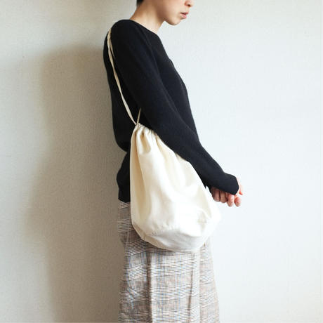 "〈TRAM〉Drawstring Bag  ""EFFECTS""  -  Natural"