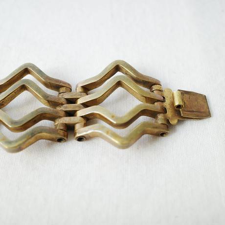真鍮のアールデコ・ブレスレット