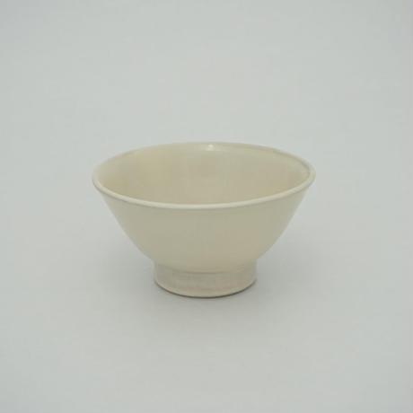 ご飯茶碗 (大 口径約12.5cm・高さ約6.5cm)白 (08)