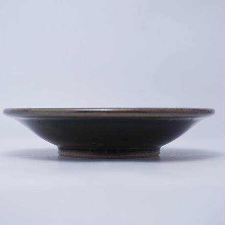 縁付皿(5寸/約15cm)緑 (18)