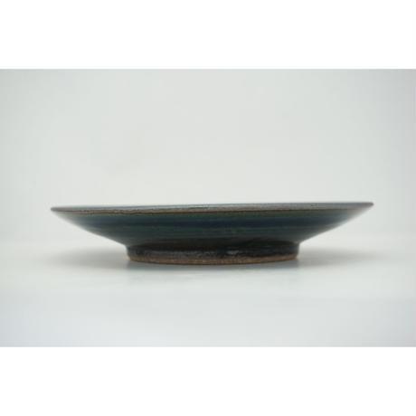 縁鉄砂呉須釉皿(7寸/約21㎝)呉須・縁鉄 (04)