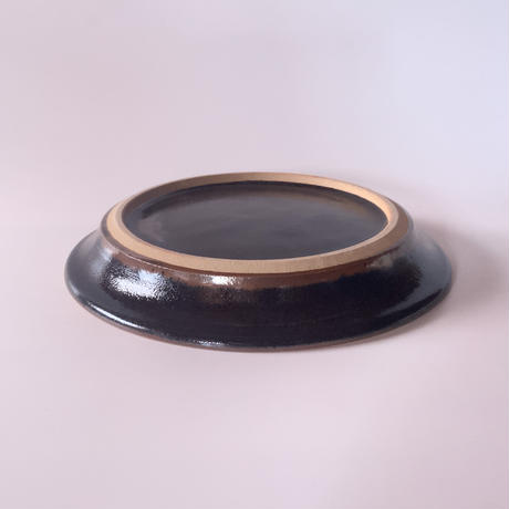 パン皿(7寸/約21cm)黒 (07)