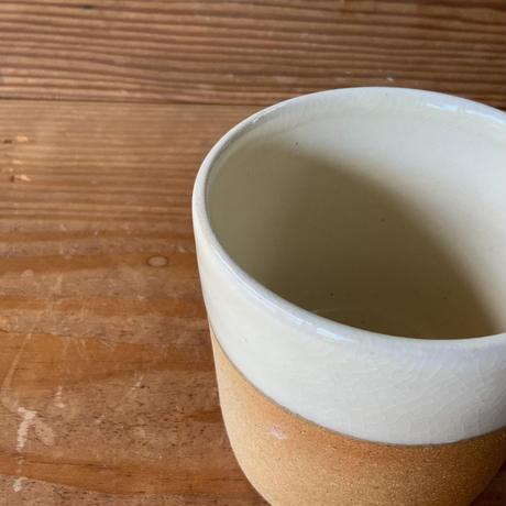 マグカップ 切立型 白下焼締め (06)