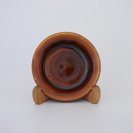 縁付平皿(5寸/約15㎝)飴 (08)