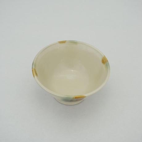 ご飯茶碗(大 口径約12.5cm・高さ約6.5cm)三彩 (08)