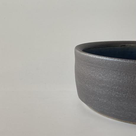 切立ドラ鉢(5寸/約15cm)呉須 ・外鉄 (07)