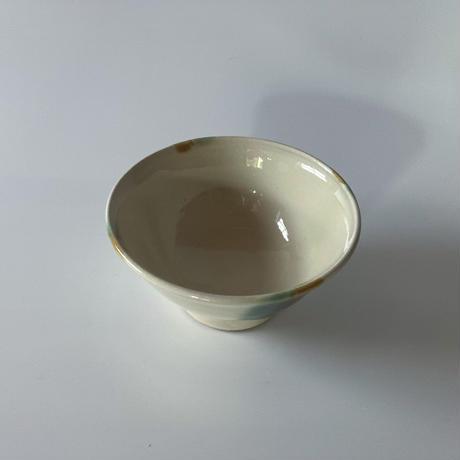 ご飯茶碗(小 口径約11.5cm・高さ約6cm)三彩 (08)