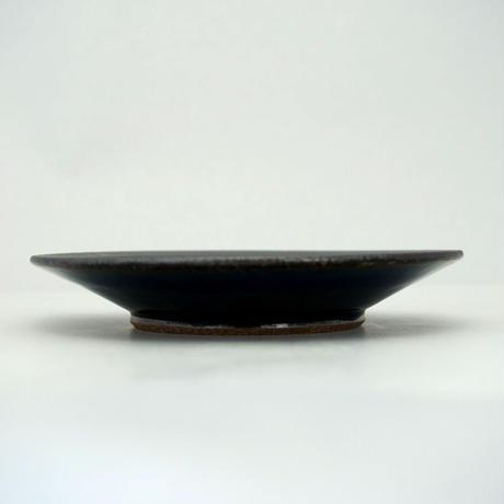 縁鉄砂呉須釉皿(3.5寸/約10.5㎝)呉須・縁鉄 (08)