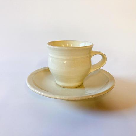 コーヒー碗・皿 白 (01)