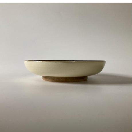 おでん皿(6寸/約18㎝)白縁鉄巻 (08)