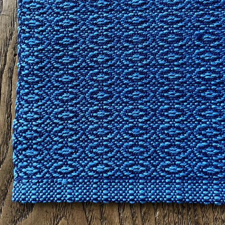 藍染 花風通織 ランチョンマット 浅葱 (a-4-2)