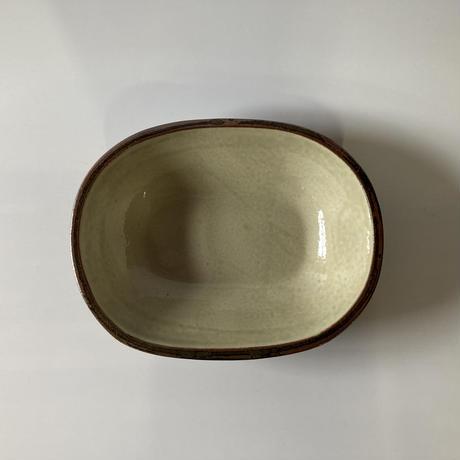 カレー皿(型)鉄土内白(来待並) (12)