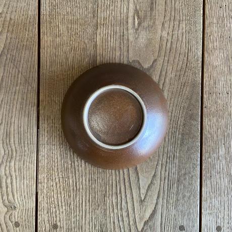 深皿(6寸/約18㎝)赤土四方流し (02)