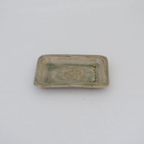 隅丸長角皿 灰 (14)