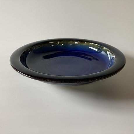 縁反り皿(8.5寸/約25.5cm)呉須 (08)