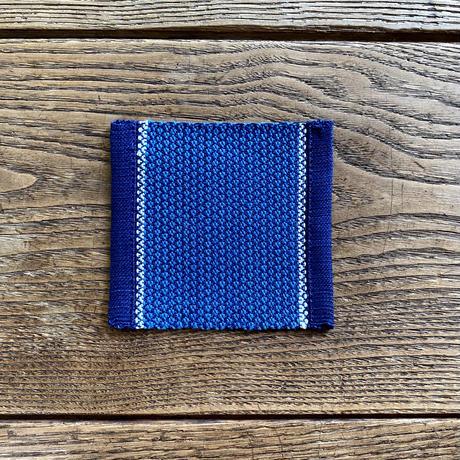 藍染 最小風通織 コースター 納戸×紺×白 (e-6)