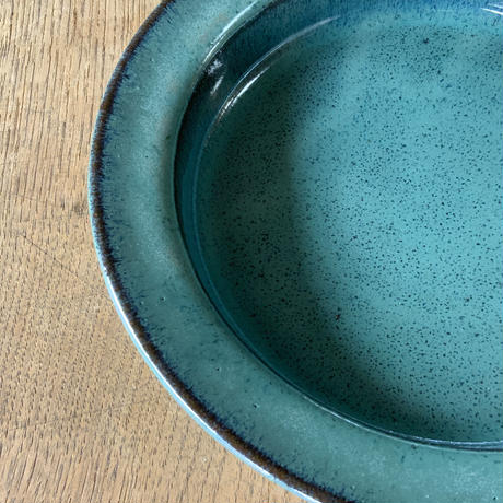 イタリー皿(7寸/約21㎝)藁緑 (02)