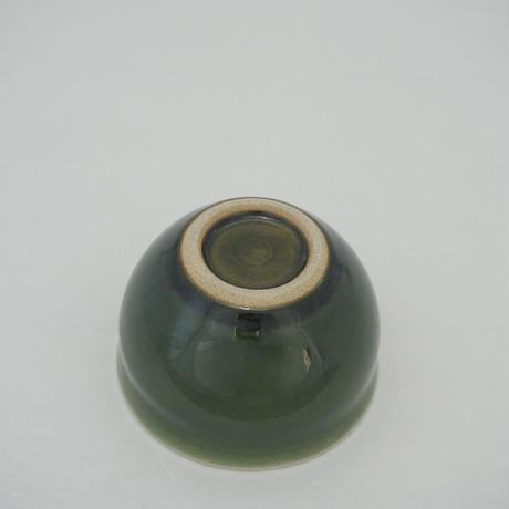 カフェオレボウル 緑(口径約12cm・高さ約8cm)(03)