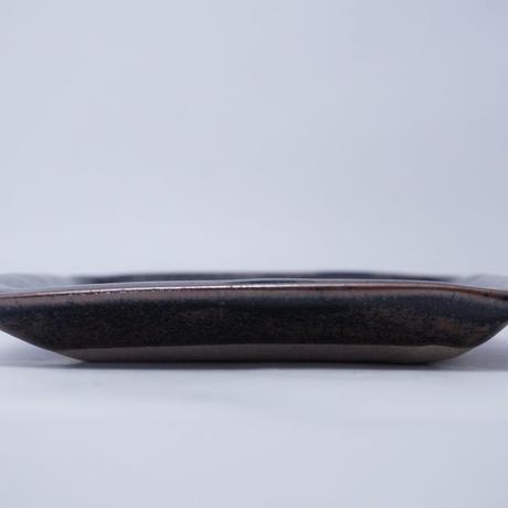 隅丸角平皿(正方形 約15×15cm)黒(20)