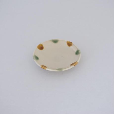 平皿(3.5寸/約10.5㎝)三彩 (01)