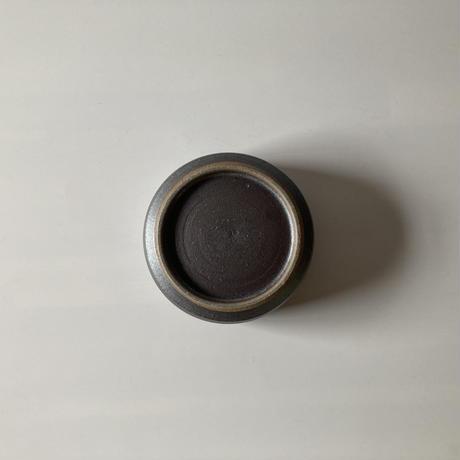 切立ドラ鉢(4寸/約12cm)呉須 ・外鉄 (07)
