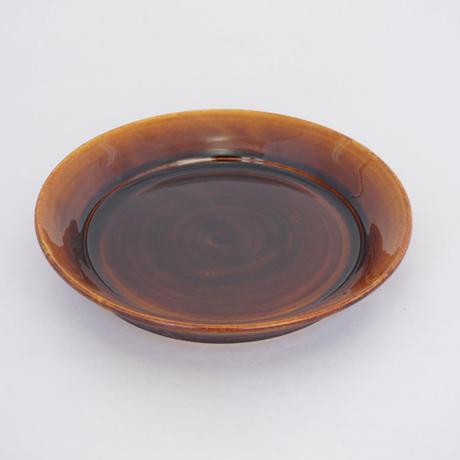 縁付平皿(8寸/約24㎝))飴 (07)