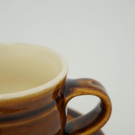 コーヒー碗皿 飴(01)
