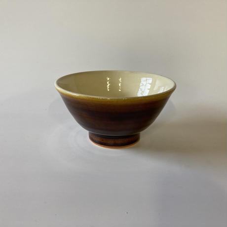 ご飯茶碗 (大 口径約12.5cm・高さ約6.5cm)飴 (08)