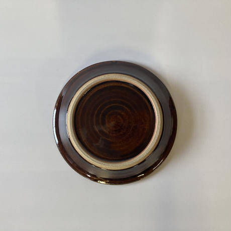 縁付平皿(6寸/約18㎝)飴 (12)