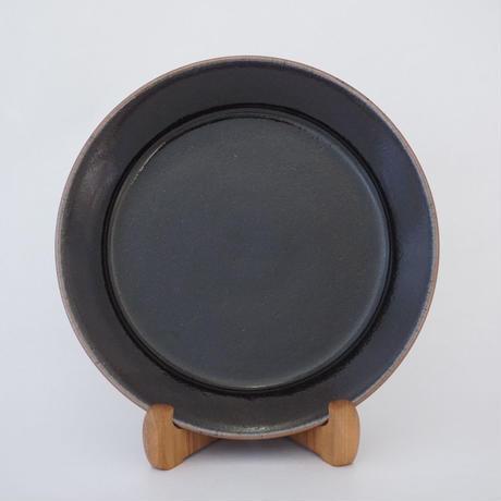縁付平皿(8寸/約24㎝))黒 (07)