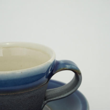コーヒー碗皿 下鉄呉須 (06)