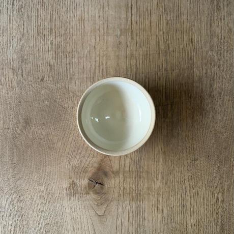 ボウル(4寸/約12cm)白・外焼締め (05)