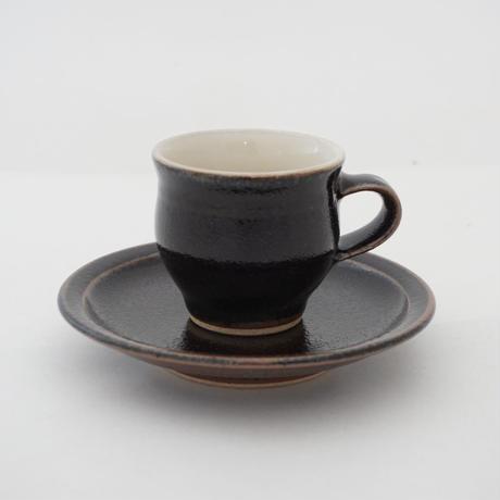 コーヒー碗・皿 黒 (01)