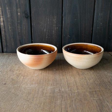 ボウル(4寸/約12cm)飴・外焼締め (05)