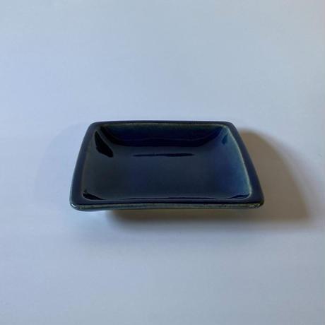隅丸角平皿(正方形 約15×15cm)呉須 (14)