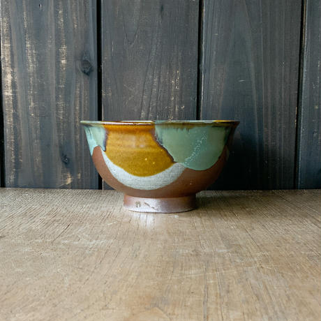丼鉢(5寸/約15㎝)三彩 (11)