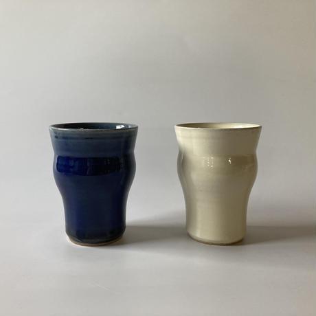 アイスティーカップ(フリーカップ)内外呉須(口径約8.5cm・高さ約11cm)(02)