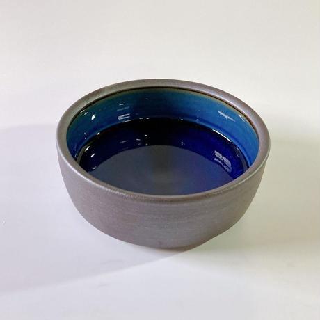 切立ドラ鉢(7寸/約21cm)呉須 ・外鉄 (07)