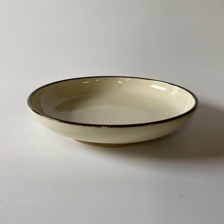 おでん皿(7寸/約21㎝)白縁鉄巻 (08)
