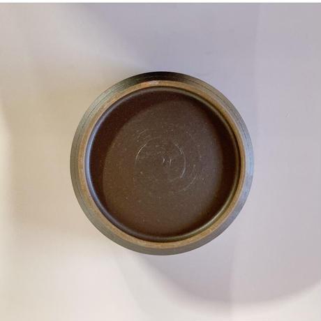切立ドラ鉢(6寸/約18cm)呉須 ・外鉄 (07)