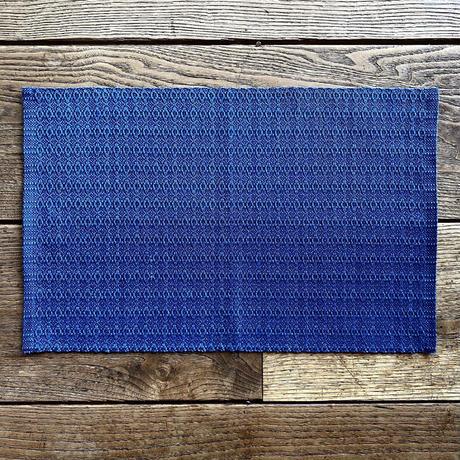 藍染 花風通織 ランチョンマット 納戸 (a-4-3)